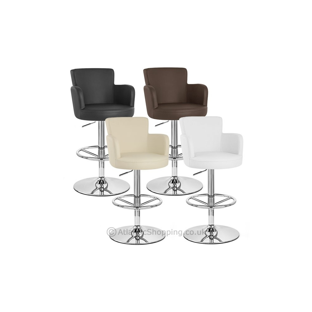 Chaise de bar faux cuir chrome ch teau monde du tabouret - Chaise de bar en cuir ...