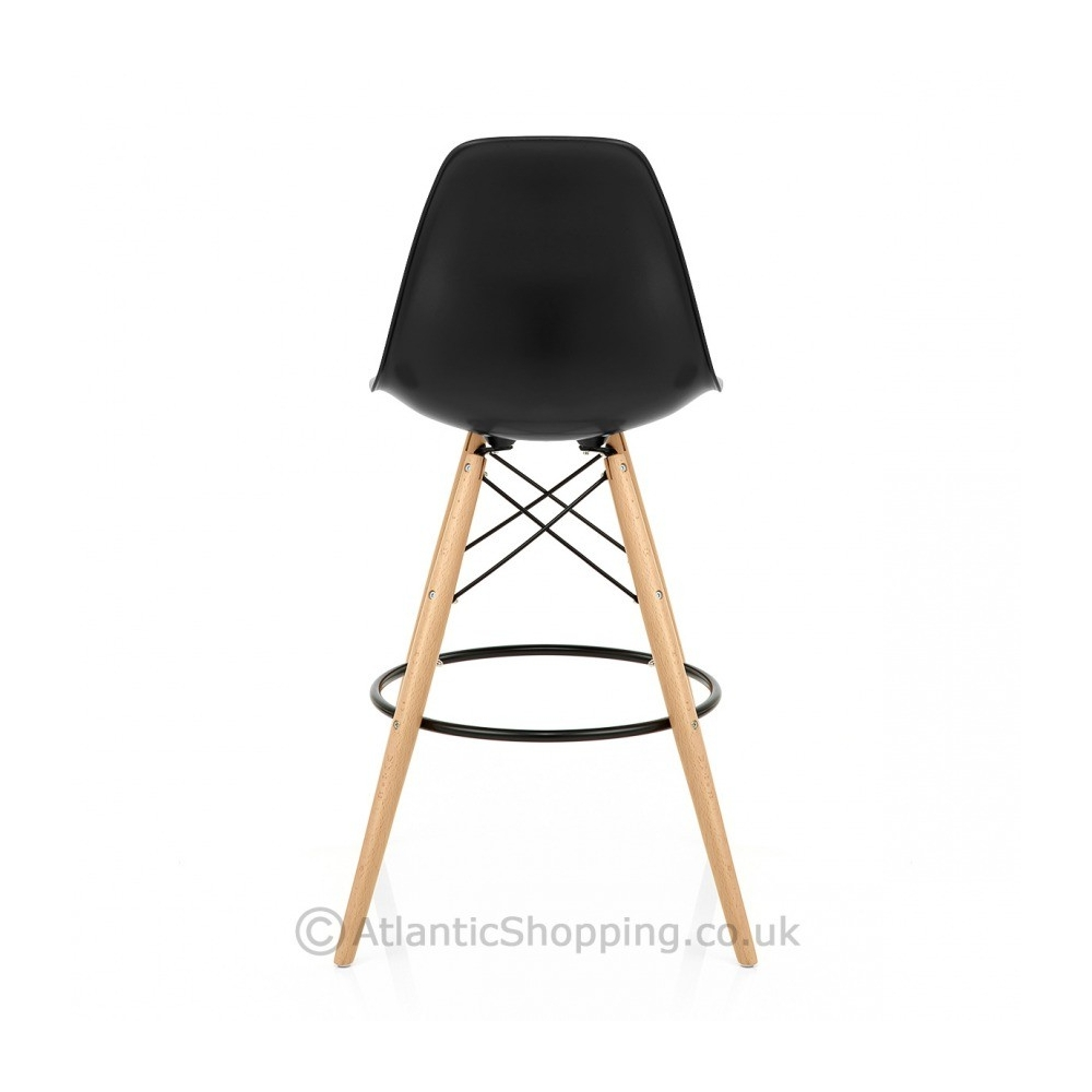 tabouret de bar eames tabouret de bar ou snack design iris structure bois pieds tables with. Black Bedroom Furniture Sets. Home Design Ideas