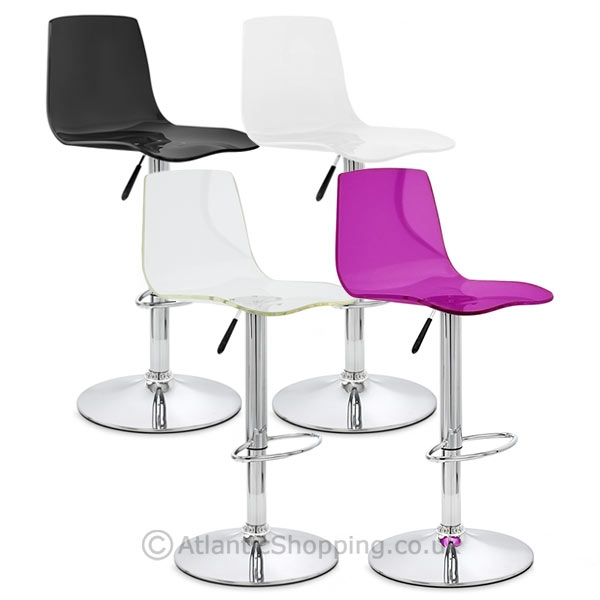 Chaise de bar plastique chrome odyssey for Chaise et tabouret de bar