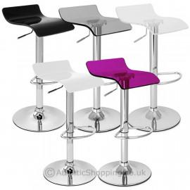 chaise de bar plastique chrome odyssey monde du tabouret. Black Bedroom Furniture Sets. Home Design Ideas