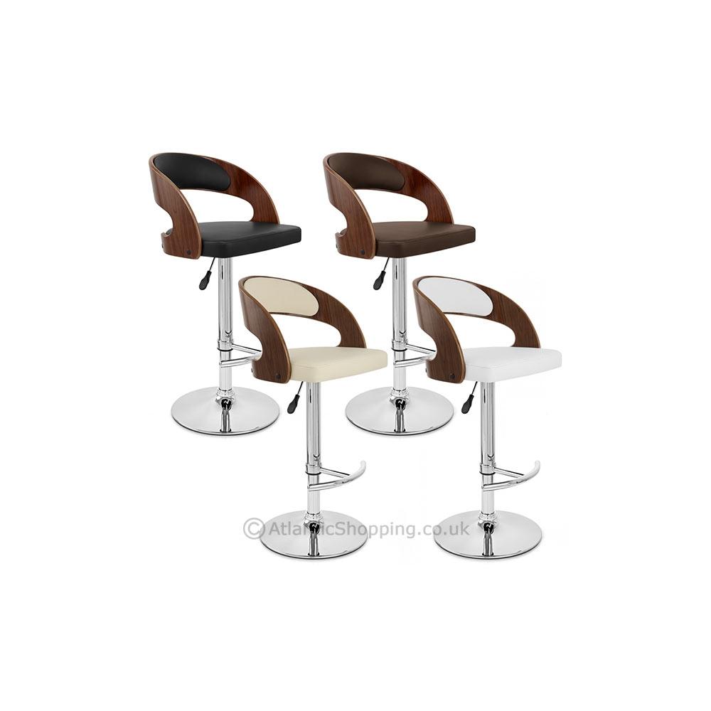 chaise de bar bois chrome eve noyer monde du tabouret. Black Bedroom Furniture Sets. Home Design Ideas
