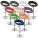 Chaise de Bar Faux Cuir Chrome - Crescent Matelassé