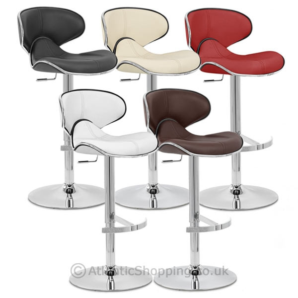 chaise de bar cuir chrome f lix deluxe monde du tabouret. Black Bedroom Furniture Sets. Home Design Ideas