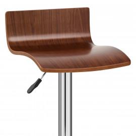 Chaise de Bar Bois Chrome - Alpino