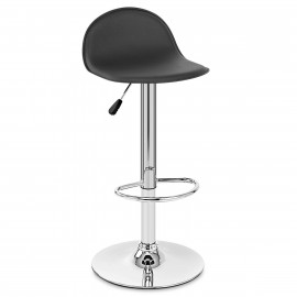 Chaise de Bar Faux Cuir Chrome - Cap