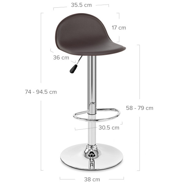 Chaise de bar faux cuir chrome cap monde du tabouret for Chaise de bar en cuir
