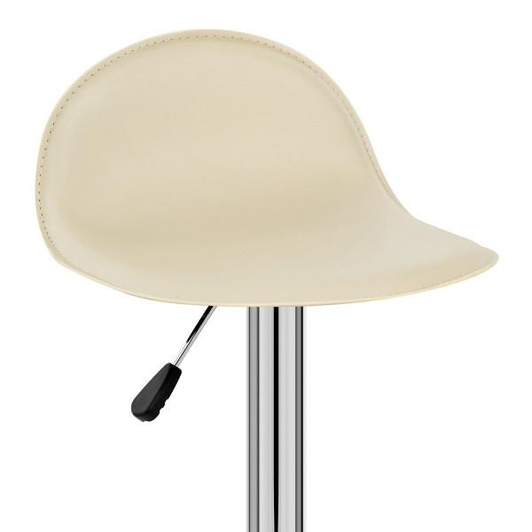 Chaise de Bar Faux Cuir Chrome - Cap