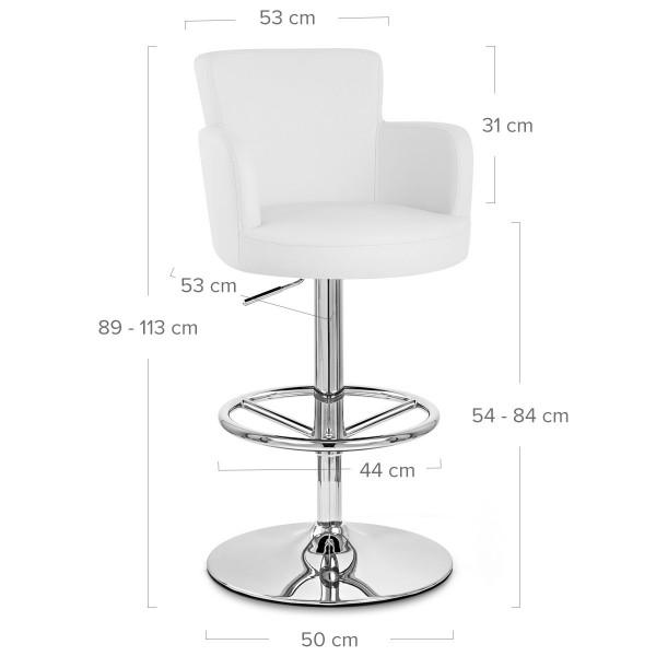Chaise de Bar Faux Cuir Chrome - Château