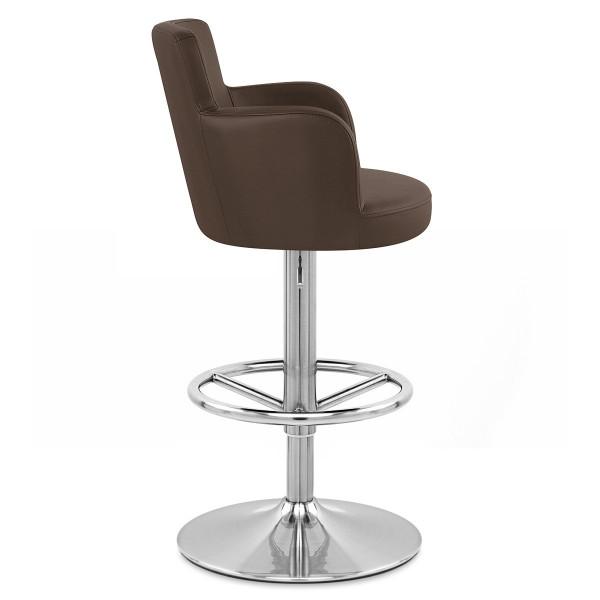 Chaise de Bar Faux Cuir Chrome Brossé - Château