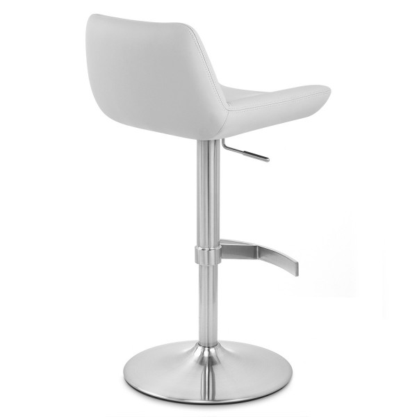 Chaise de Bar Simili Cuir Chrome Brossé - Christiana