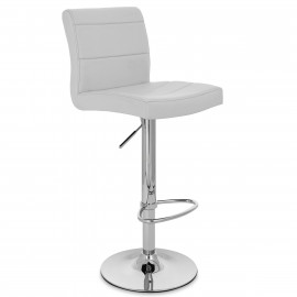 Chaise de Bar Faux Cuir Chrome - Breakfast