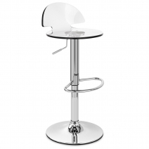 Chaise de Bar Plastique Chrome - Comet