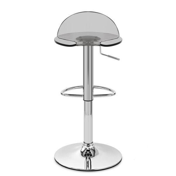 Chaise de Bar Plastique Chrome - Comet Gris