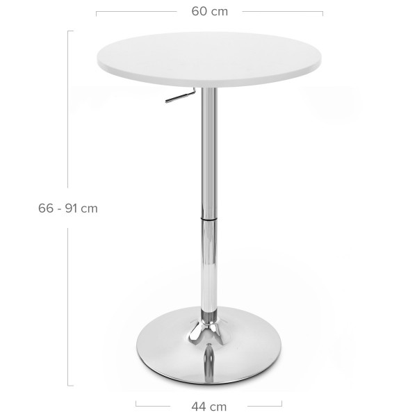 Table de Bar Chrome - Ambassador Noir