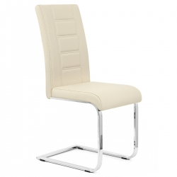 Chaise Faux Cuir Chrome - Anima