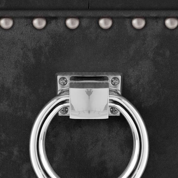 Chaise Bois Velours - Ascot Noir