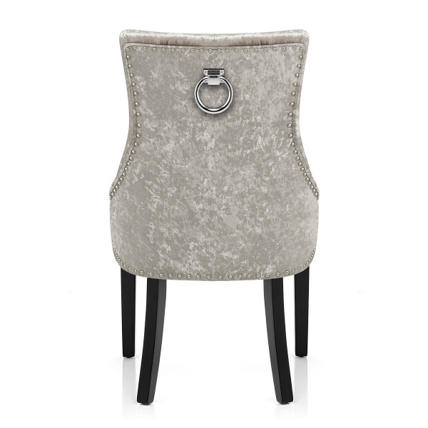 Chaise Bois Velours - Ascot Taupe