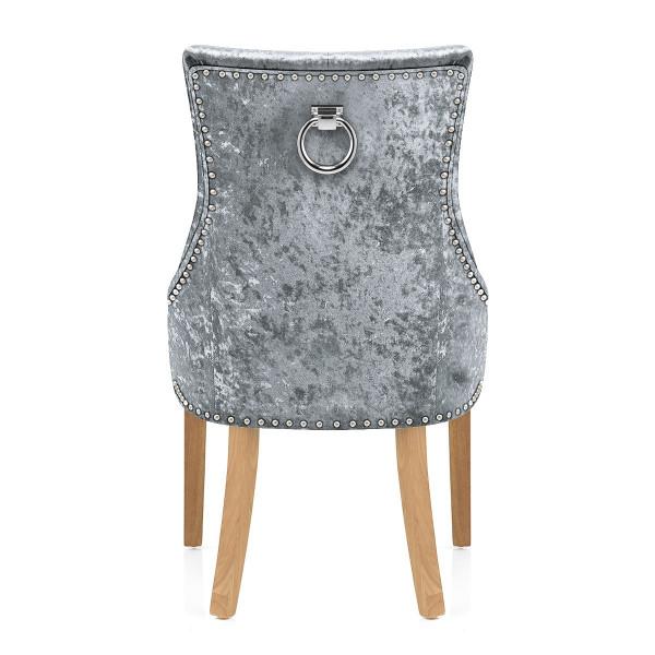 Chaise Chêne Velours - Ascot Noir