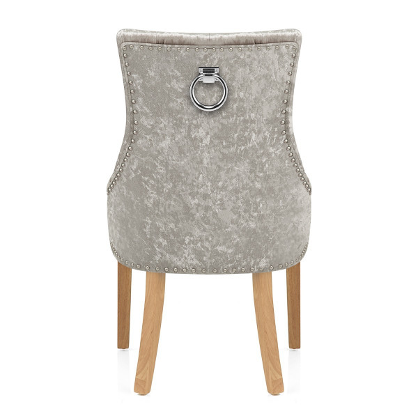 Chaise Chêne Velours - Ascot Taupe