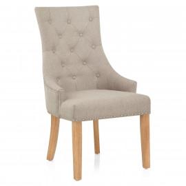 Chaise Chêne Tissu - Ascot