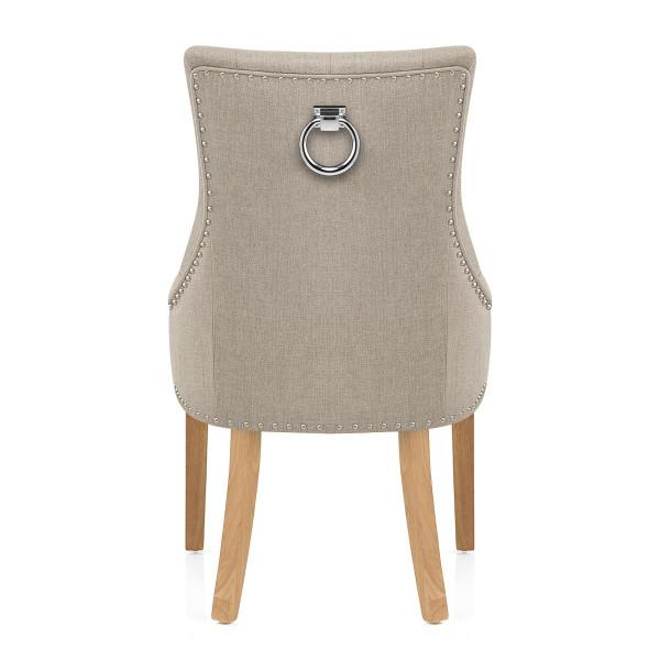 Chaise Chêne Tissu - Ascot Taupe