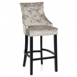 Chaise de Bar Bois Velours - Ascot
