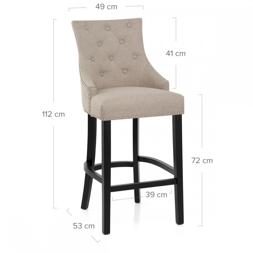 Chaise De Bar Bois Tissu