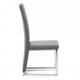 Chaise Faux Cuir Chrome - Aspen