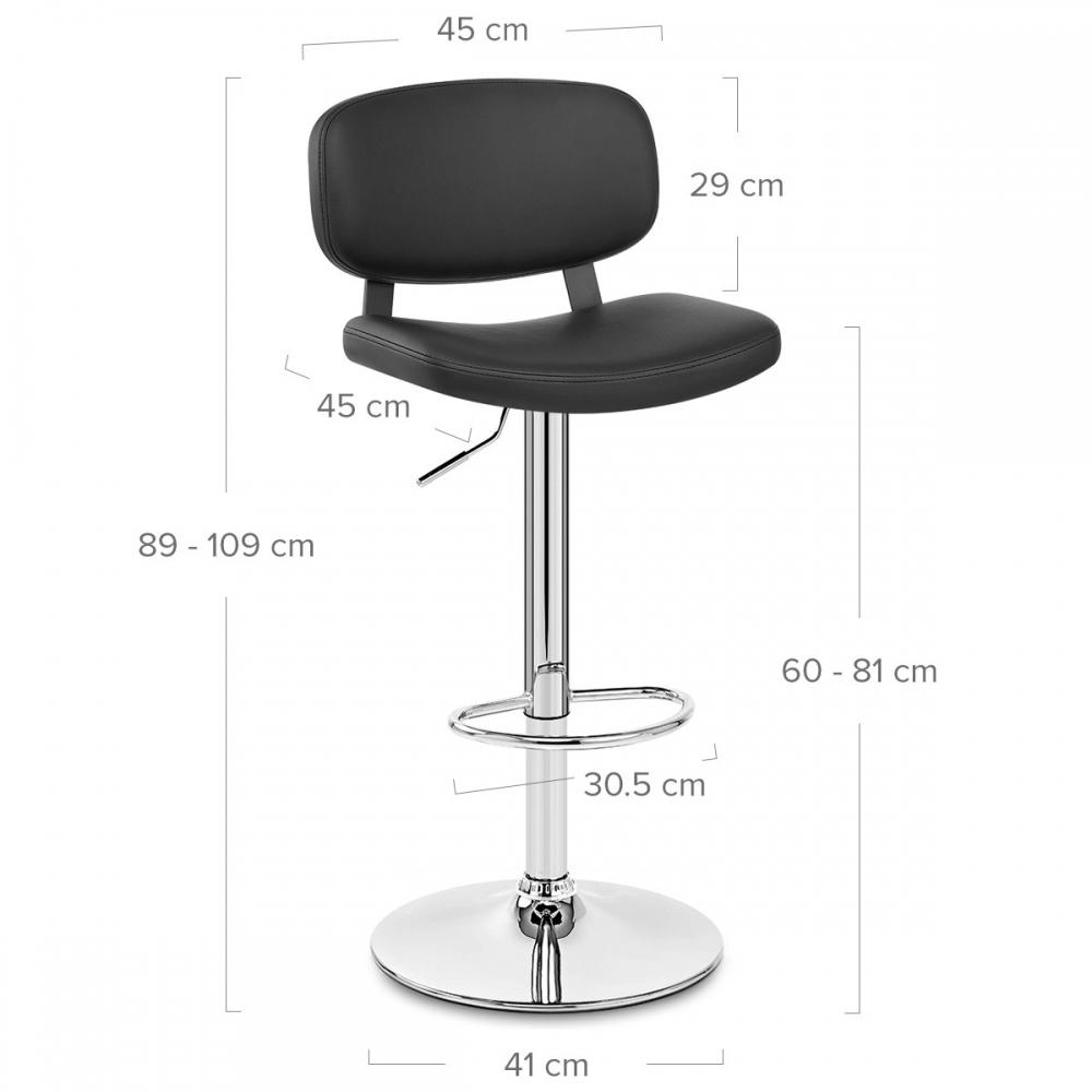 Chaise de bar faux cuir chrome edge monde du tabouret - Chaise de bar cuir ...