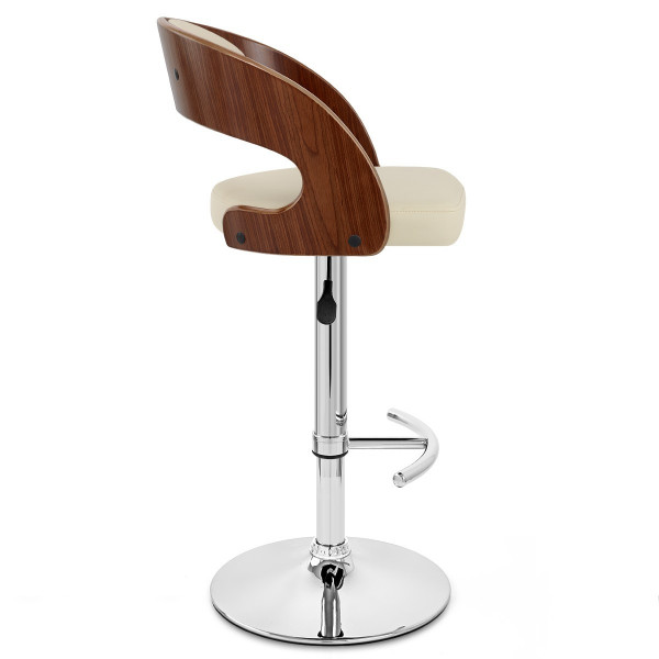 Chaise de Bar Bois Chrome - Eve Noyer