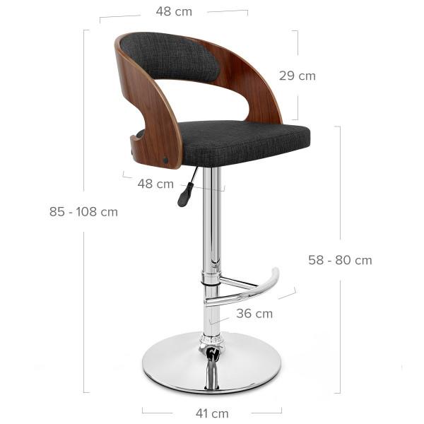 Chaise de Bar Bois Tissu - Eve Crème
