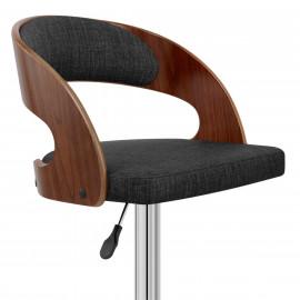 Chaise de Bar Bois Tissu - Eve