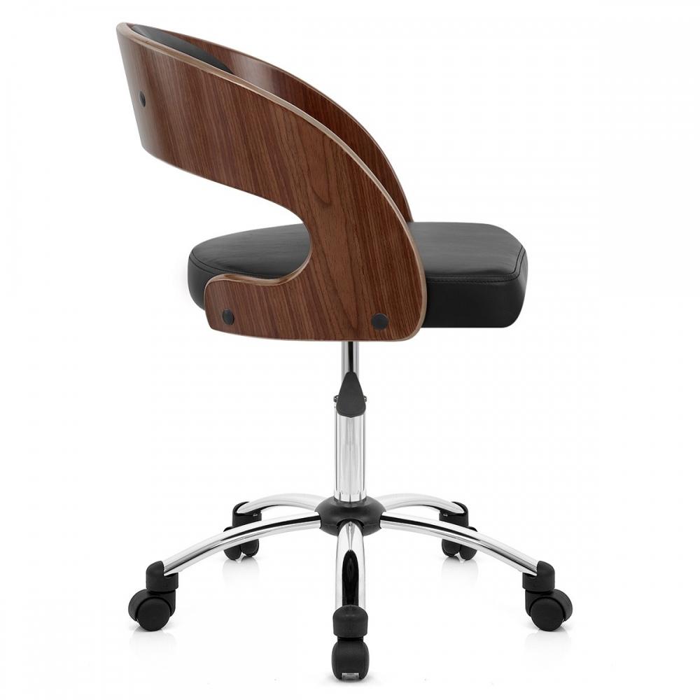 chaise bois simili cuir evergreen monde du tabouret. Black Bedroom Furniture Sets. Home Design Ideas