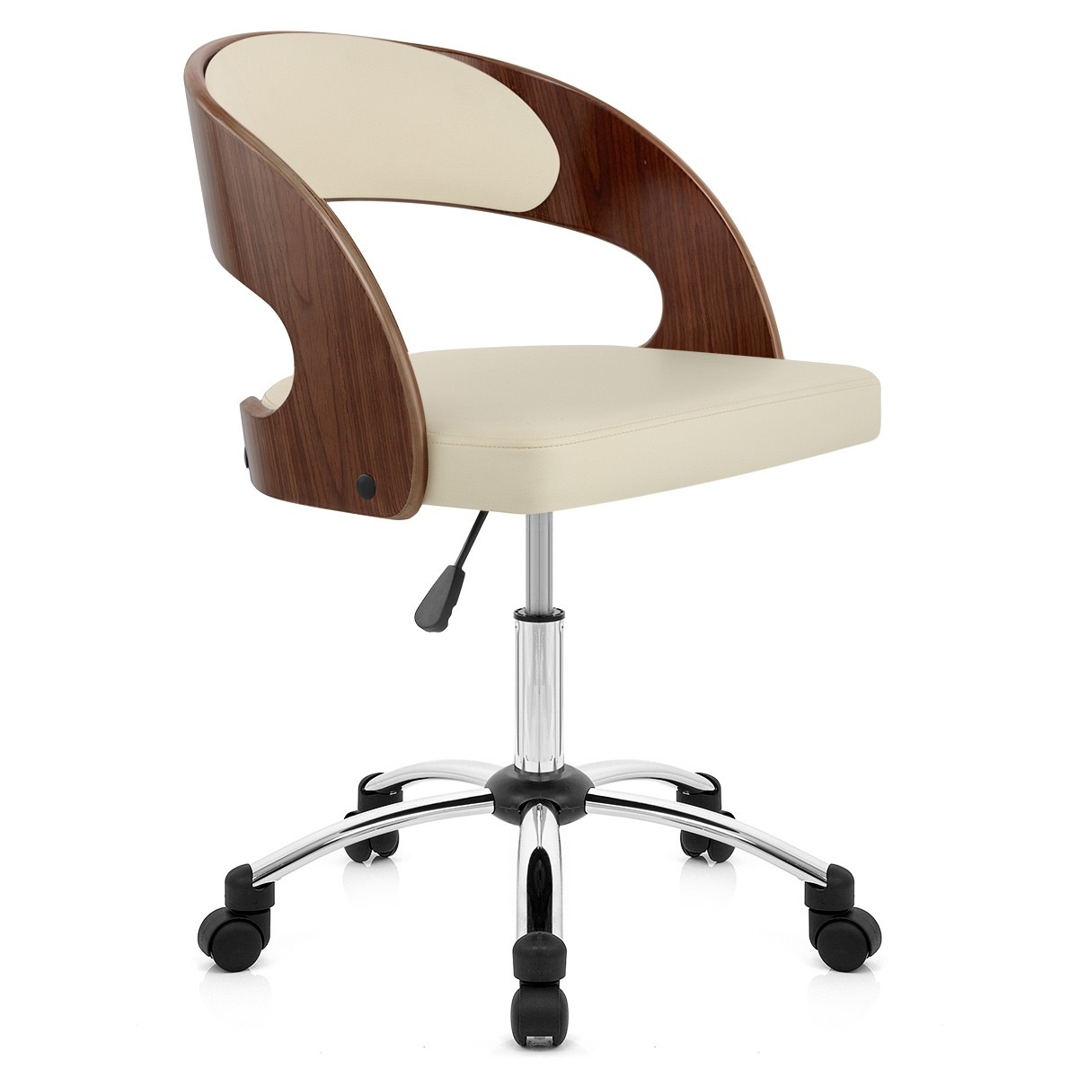 Chaise de bureau en bois chaise ordinateur Lepolyglotte