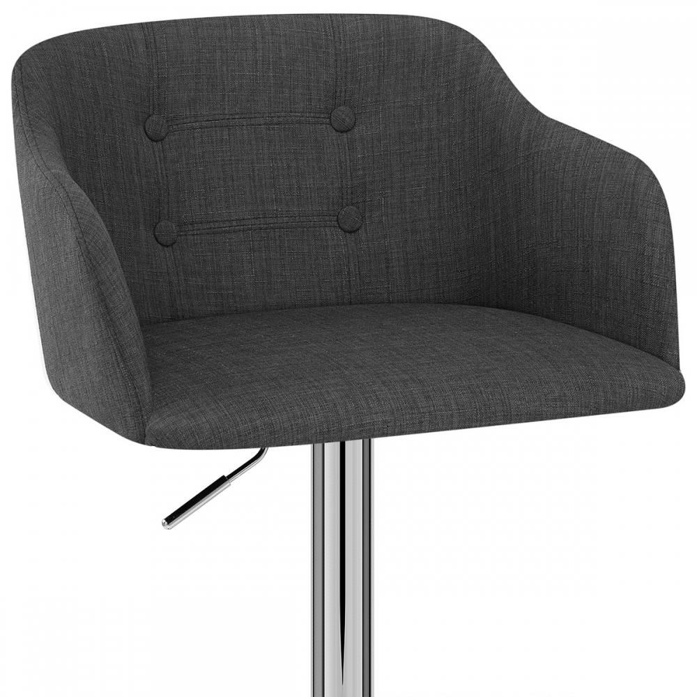 tabouret de bar tissu chrome belmont monde du tabouret. Black Bedroom Furniture Sets. Home Design Ideas