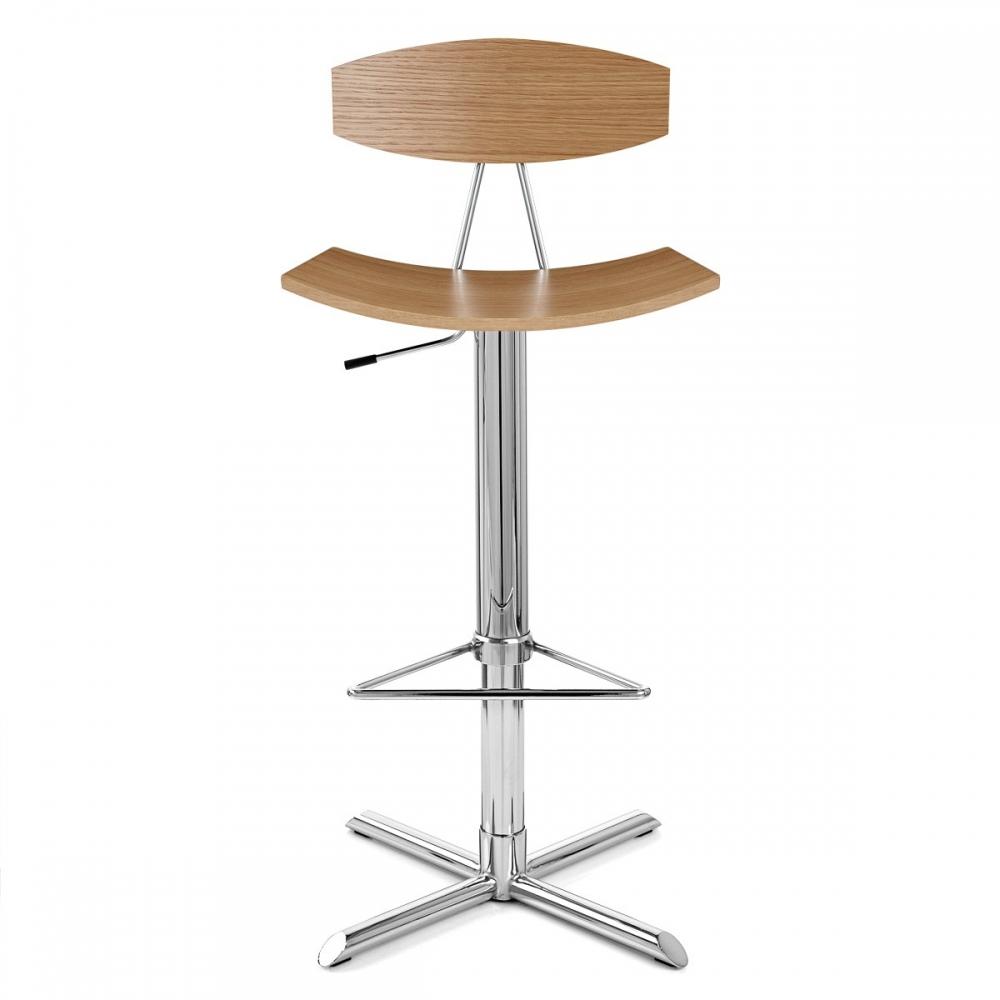 chaise de bar bois chrome blade ch ne monde du tabouret. Black Bedroom Furniture Sets. Home Design Ideas