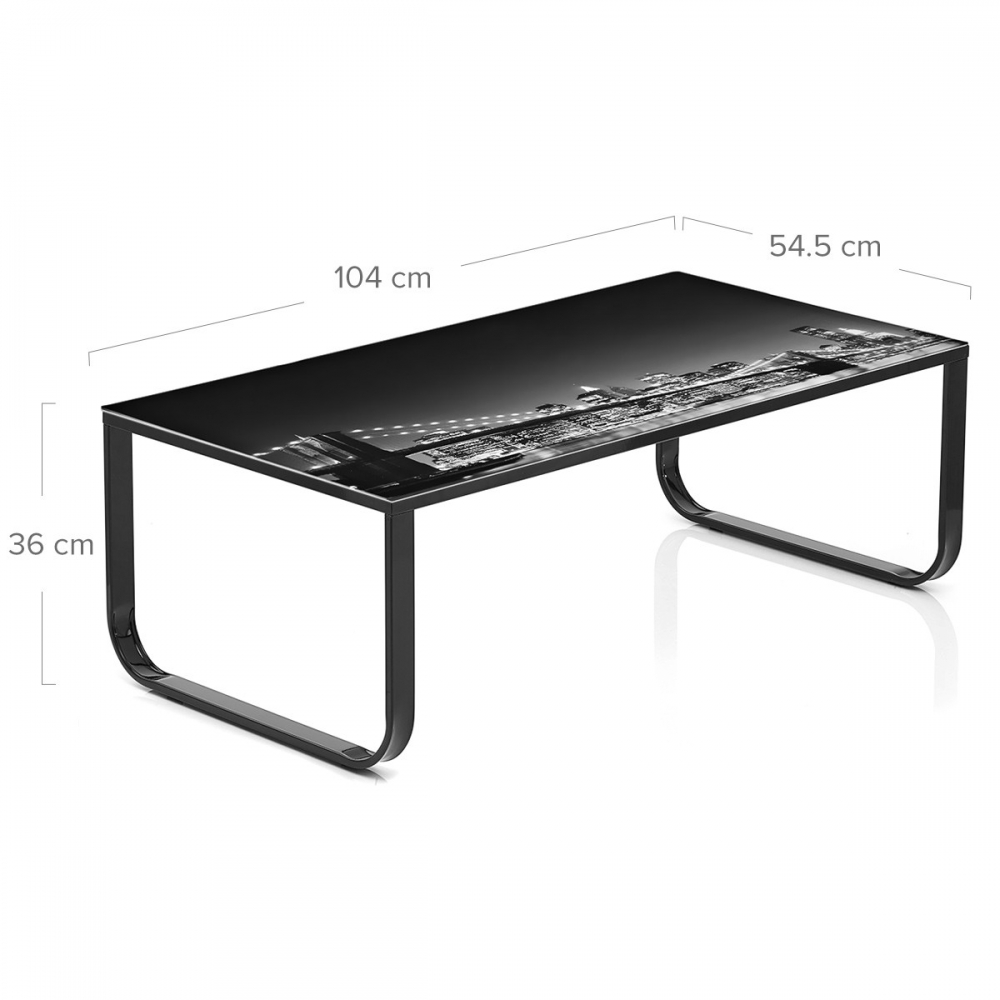 Table basse en verre brooklyn bridge monde du tabouret for Table basse verre but