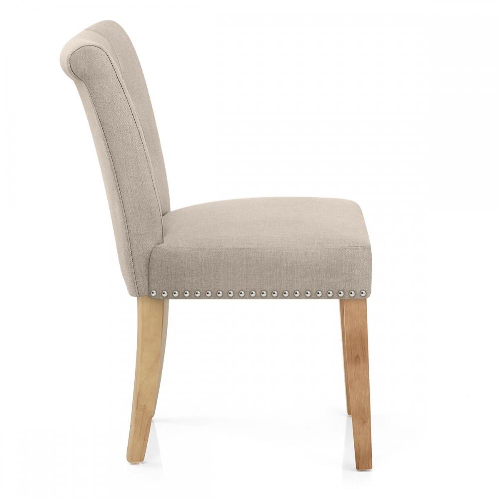 Chaise buckingham en tissu et bois monde du tabouret for Chaise bois salon