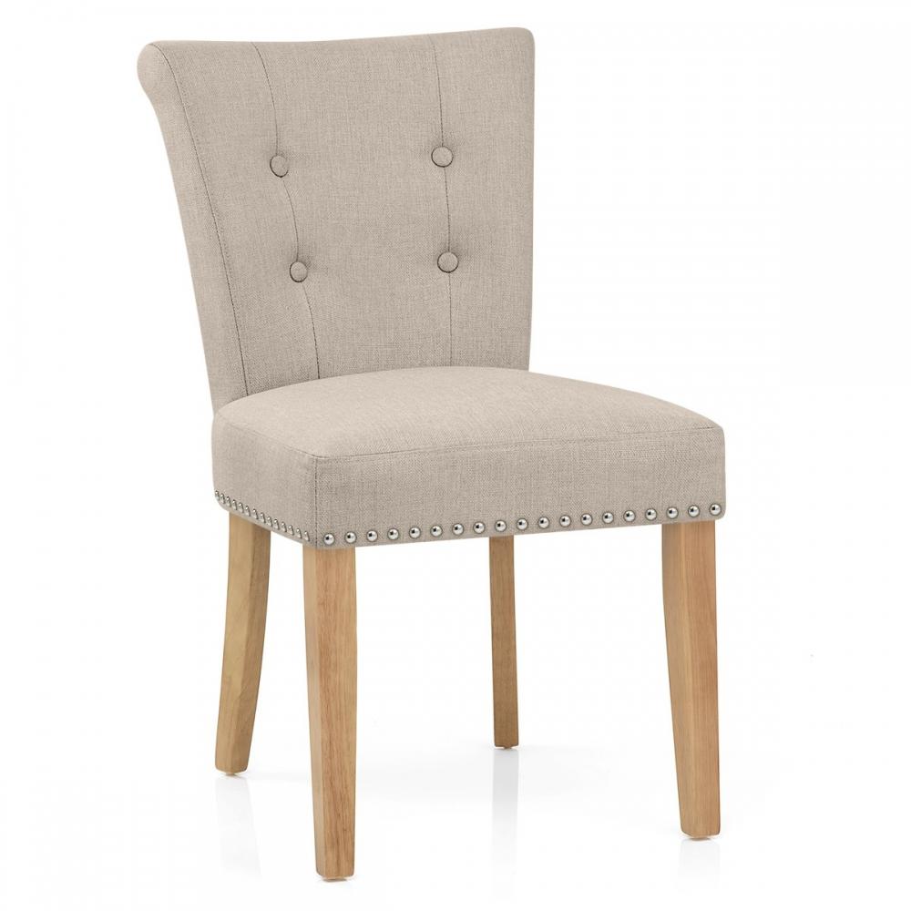 Chaise Buckingham En Tissu Et Bois