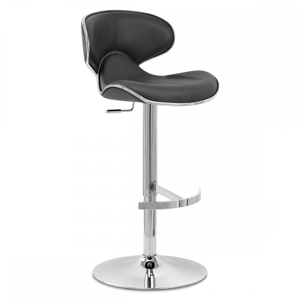 Chaise de bar cuir chrome f lix deluxe monde du tabouret for Chaise de bar en cuir