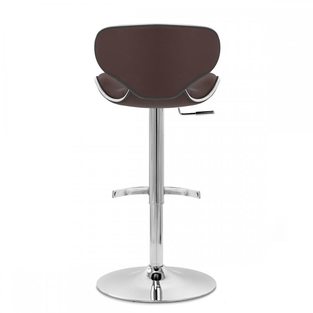 Chaise de bar cuir chrome f lix deluxe monde du tabouret - Chaise de bar en cuir ...