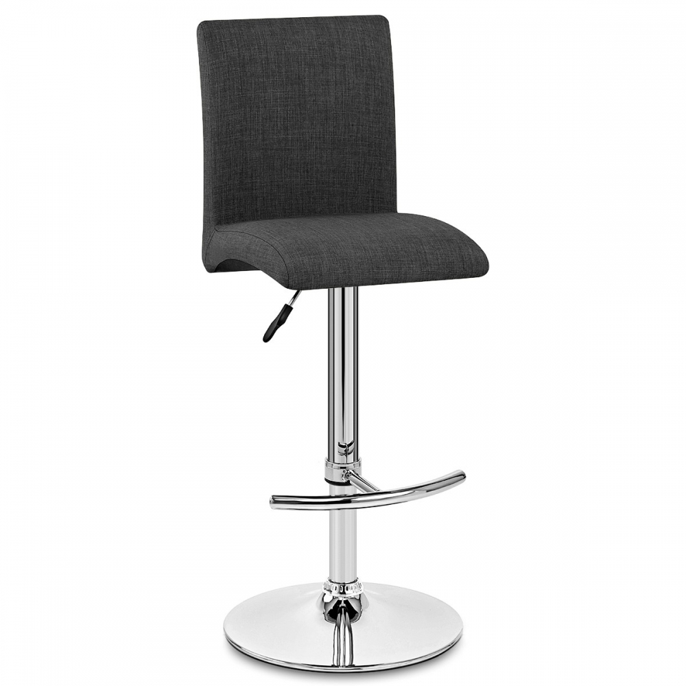 Chaise de bar tissu deluxe high back monde du tabouret for Chaise de bar ajustable