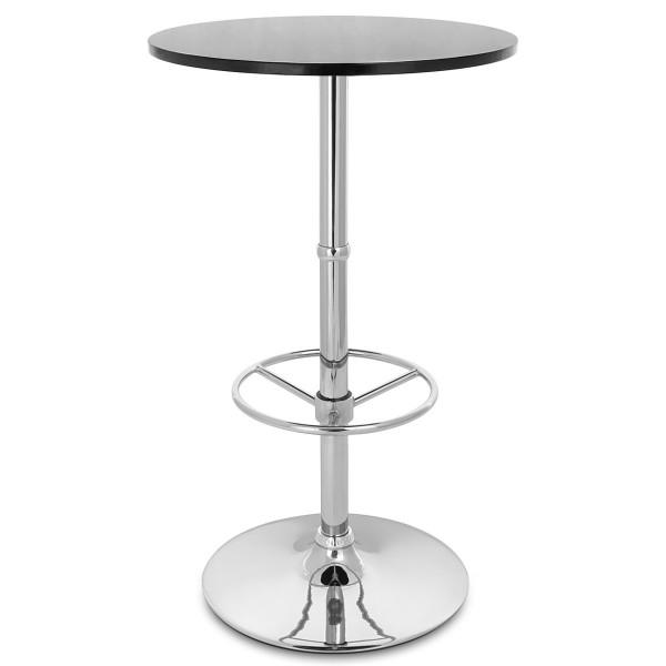 Table de Bar Chrome - Dial Ronde Noisette