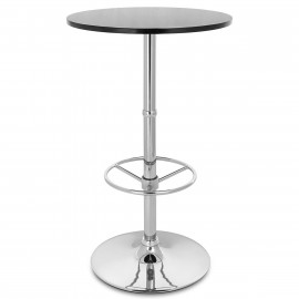 Table de Bar Chrome - Dial Ronde Noisette