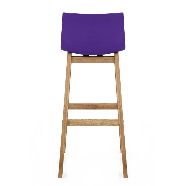 Tabouret de Bar Résine Bois - Drift Violet