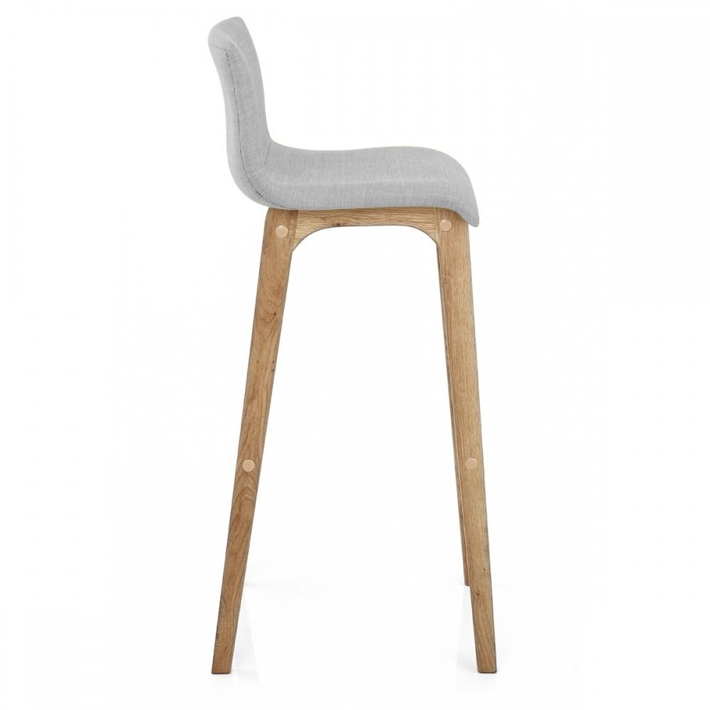 Chaise de bar tissu bois drift monde du tabouret - Tabouret de bar tissu ...