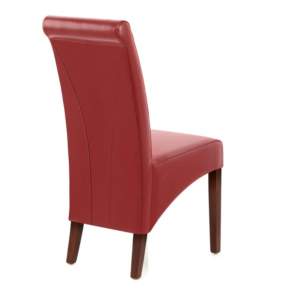 Chaise bois cuir cro t carlo noyer monde du tabouret for Chaise bois cuir