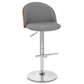 Chaise de Bar Bois Tissu - Focus