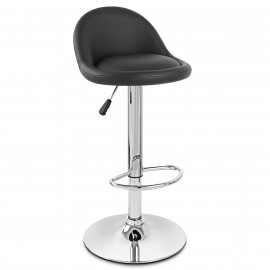 Chaise de Bar Faux Cuir Chrome - Glee