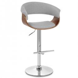 Chaise de Bar Bois Tissu - Grafton